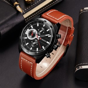 Black Dial New Design Luxury Men Fashion Watch - Brown