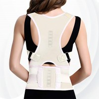 Adjustable Breathable Shoulder Lumbar Support Posture Corrector - White