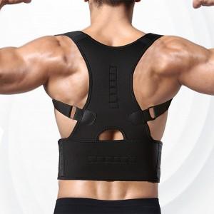 Adjustable Breathable Shoulder Lumbar Support Posture Corrector - Black