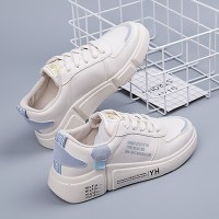Flat Bottom Casual Breathable Student Running Shoes - White