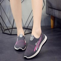 Non-slip Soft Bottom Breathable Mesh Canvas Shoes - Gray