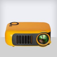 Portable Clear Screen Wireless Mobile Mini Projector - Orange