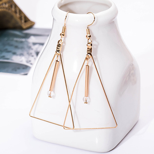 Gold Plated Geometric Shaped Party Earrings
