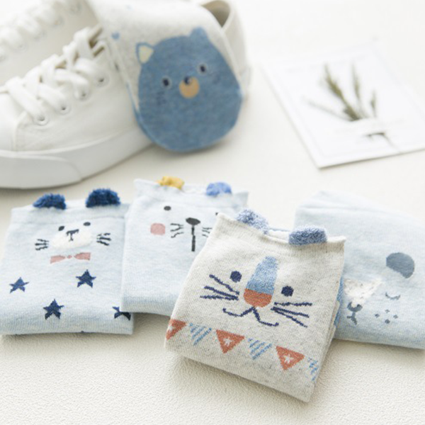 Animal Prints Five Pieces Mini Socks Set