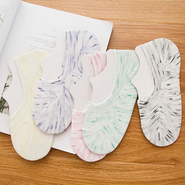 Textured Multicolor Five Pieces Socks Pair Set
