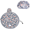 Drawstring Printed Lazy Pouch Cosmetics Bags - Grey