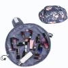 Drawstring Printed Lazy Pouch Cosmetics Bags - Dark Grey