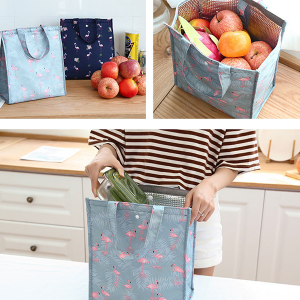 Flamingo Prints Zipper Closure Vertical Lunch Bags - Two Colors