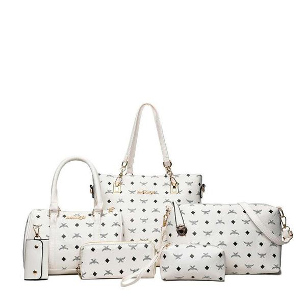 6 Pieces Luxury Bag Set High-quality White Handbags