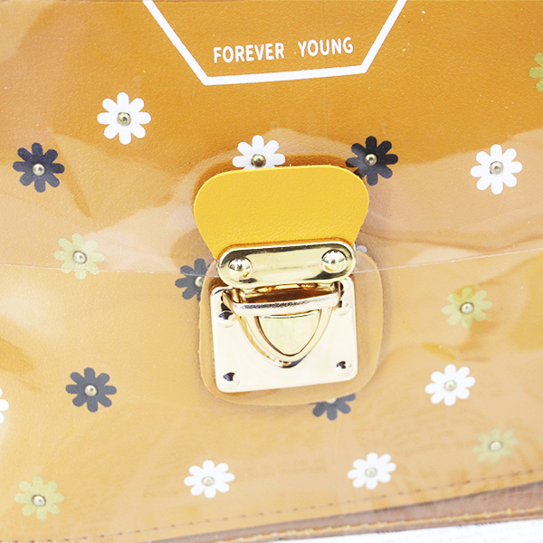 Cute Floral Colorful Jelly Messenger Bags - Light Brown