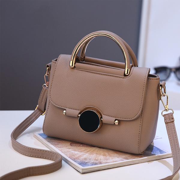 Apricot PU Leather Premium Shoulder Bags