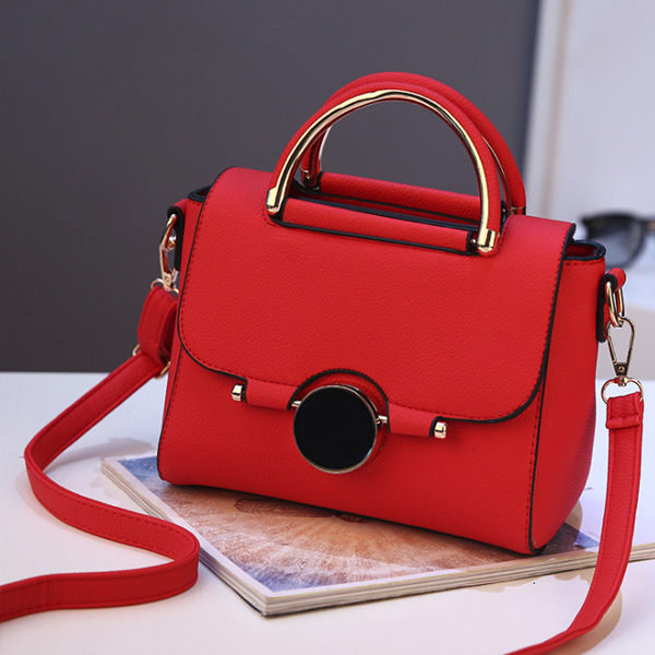 Red PU Leather Premium Messenger Bags