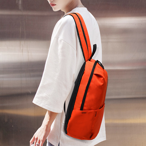 Smart Casual Wear Zipper Backpack - Orange