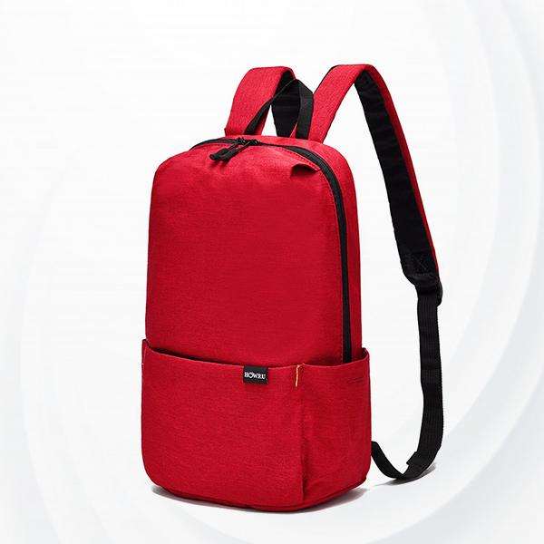 Smart Casual Wear Zipper Backpack - Red
