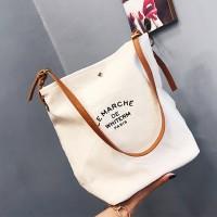 Canvas Traveler Solid Color Shoulder Bags - Multi Color