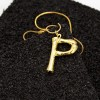 Rope Chain Alphabetical Golden Necklace - P