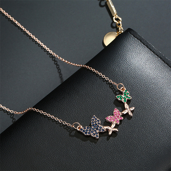 Colorful Butterfly Chain Pendant Necklace