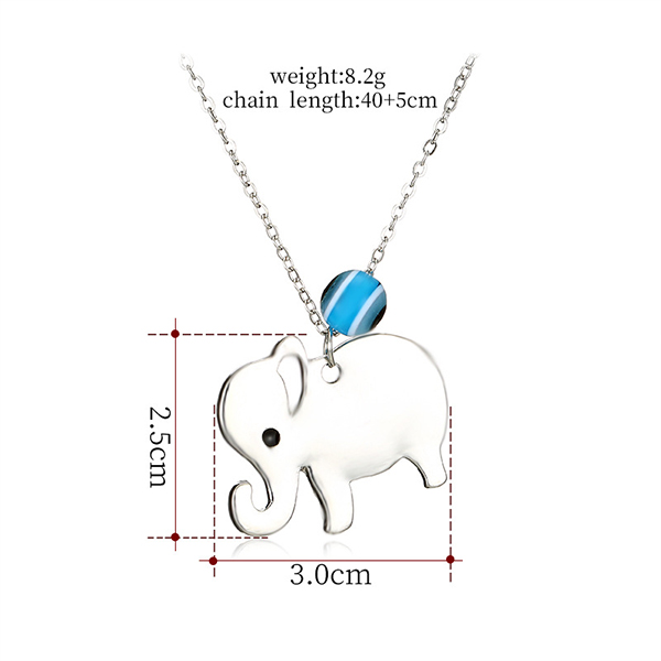 Elephant Cute Casual Wear Chain Pendant