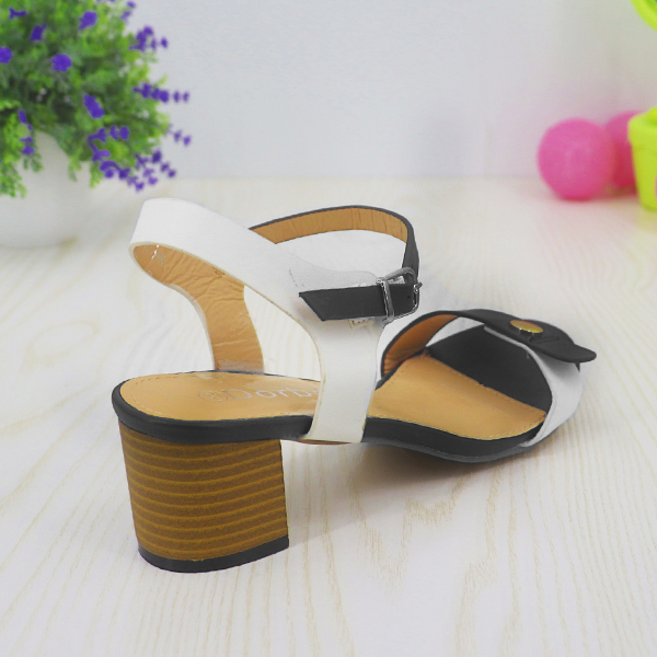 High Heels Strap Closure Party Wear Sandals - Black