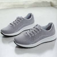 Sports Wear Summer Canvas Breathable Sneakers - Grey