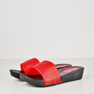 Rough Daily Wear Casual Thick Bottom Sandals - Red