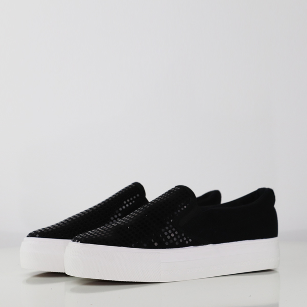 Party Wear Sequins Decoration Sneakers - Black