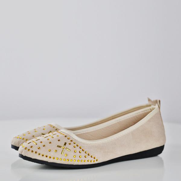 Patchwork Decorative Flat Formal Shoes - Khaki