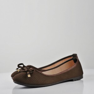 Breathable Shallow Mouth Flat Formal Shoes - Brown