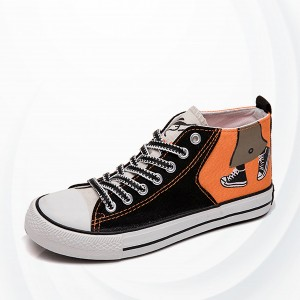 High Flat Breathable Skateboarding Shoes - Orange