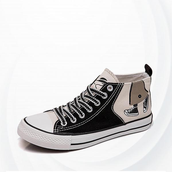 High Flat Breathable Skateboarding Shoes - Grey