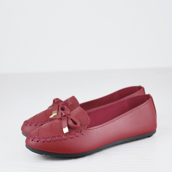 Dorbe Branded Quality Flat Wear Casual Shoes - Burgundy