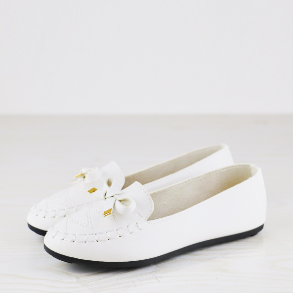 Dorbe Branded Quality Flat Wear Casual Shoes - White