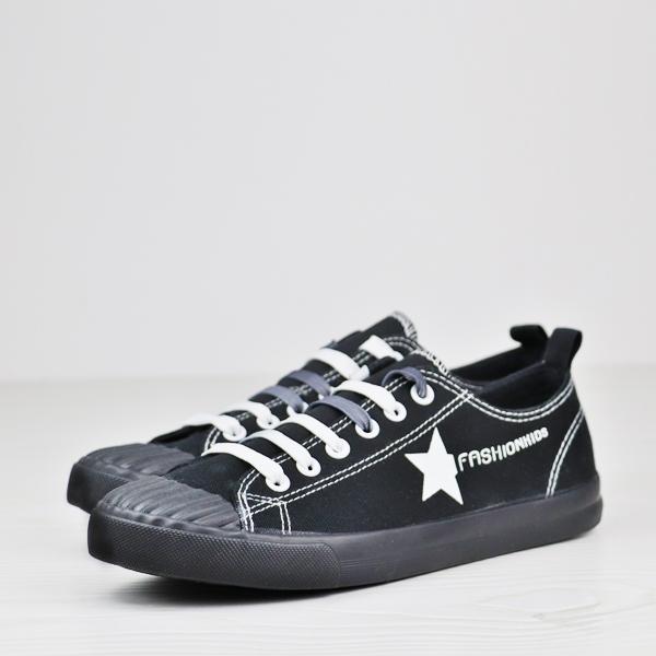 Flat Wear Sports Star Casual Sneakers - Black