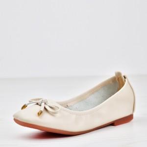 Flexible Elastic Flat Wear Formal Shoes - White