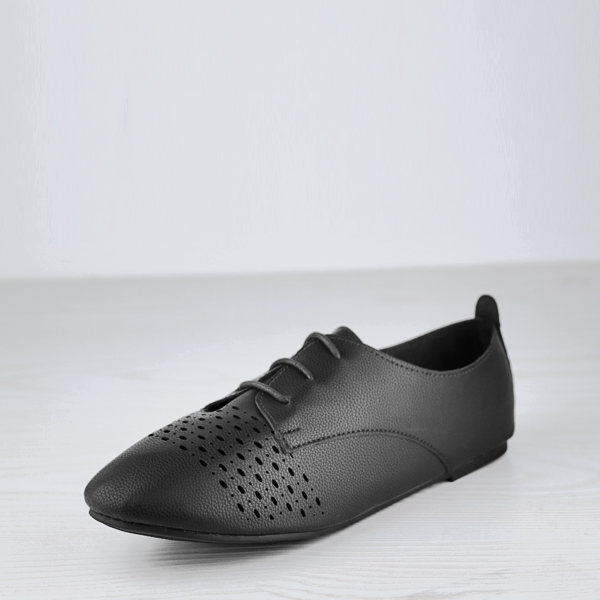 Laced Up Dorbe Office Wear Collection Shoes - Black