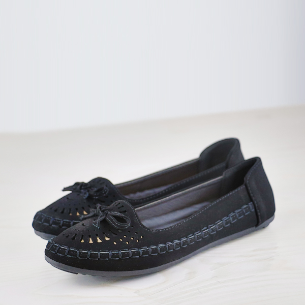 Bohemian Dorbe Branded Casual Wear Flat Shoes - Black