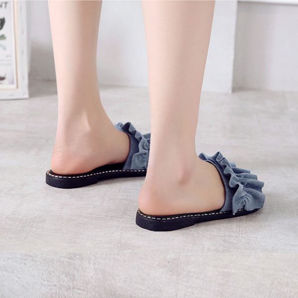 Retro Flat Wear Summer Wear Sandals - Blue