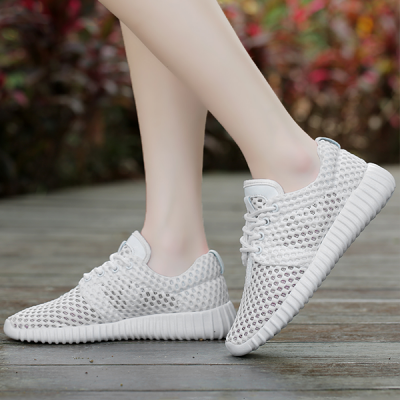 Summer Net Shoes Thick Mesh Sports Running Shoes White