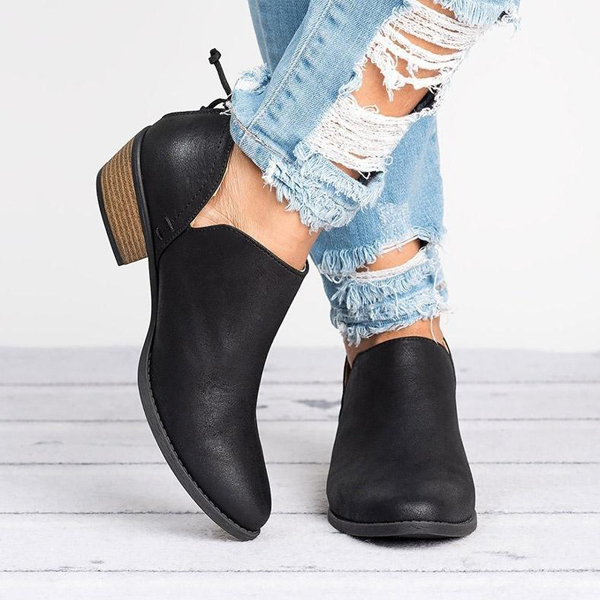 Thick Bottom Formal Wear Synthetic Leather Shoes - Black