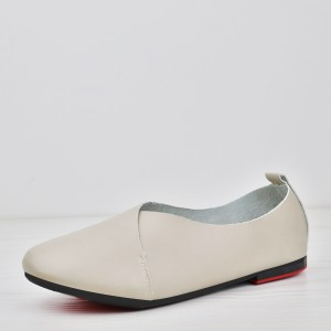 Wrapped PU Leather Flat Wear Formal Shoes