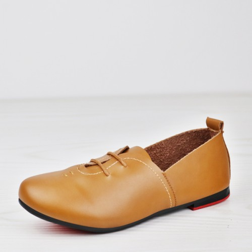 0bdc1feeb Lace Up Flat Wear Formal Shoes - Brown