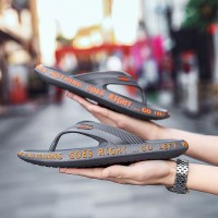 Rubber Sole Soft Casual Flip Flops - Gray