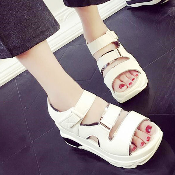 Thick Base White Summer Sandals For Women
