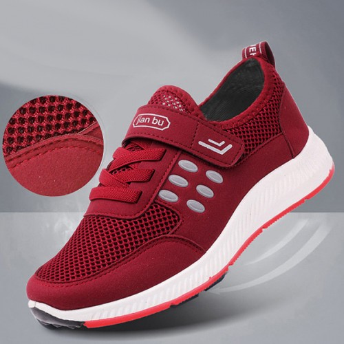 Velcro With Laced Closure Sports Casual Shoes - Red