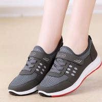 Velcro With Laced Closure Sports Casual Shoes - Grey