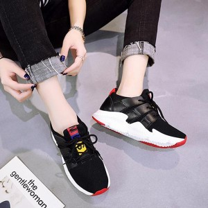 Comfortable Adjustment Breathable Sports Sneakers - Black