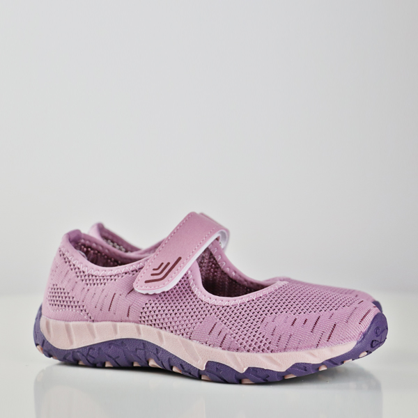 Textured Loop Closure Sports Shoes - Purple