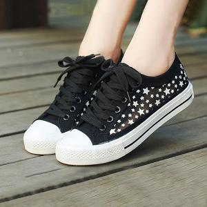 Girls Casual Fashion Black Net Sneakers Mesh Pattern