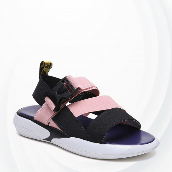 Soft Bottom Buckle Sports Casual Sandals - Pink