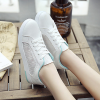 Casual Korean Net Yarn Hollow Breathable White Shoes